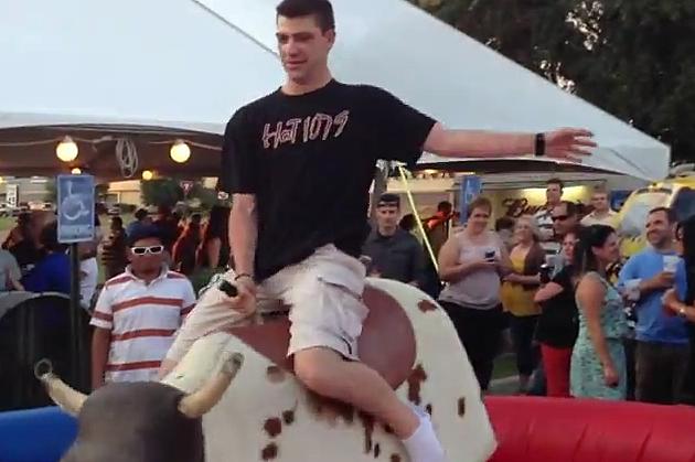 brad striker rides bull