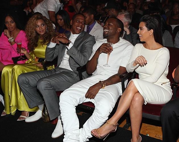 beyonce jay z kanye west kim kardashian bet awards 2012