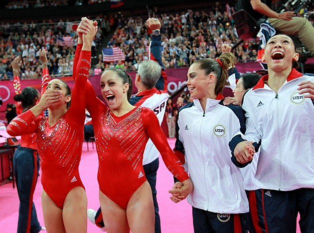 u.s. women's gymnastics team wins gold at 2012 london olympics