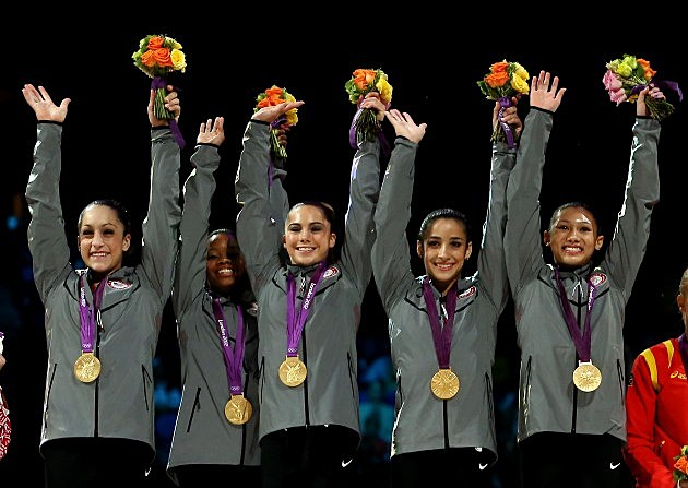 u.s. women's gymnastics team wins gold at 2012 london olympics