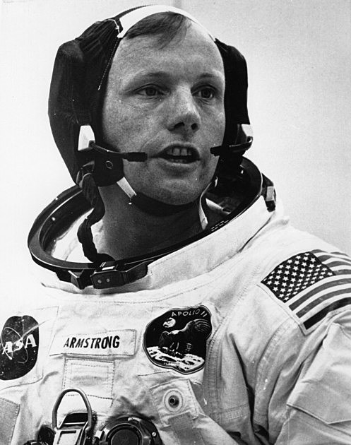 Astronaut Neil Armstrong, The First Man To Walk On The ...
