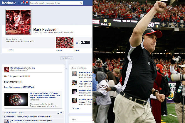get ul ragin cajuns head football coach mark hudspeth to 10,000 fans before first home game