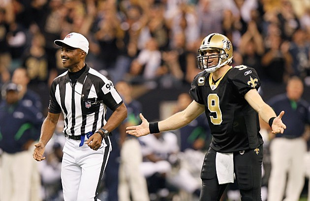 replacement official pulled for being a saints fan