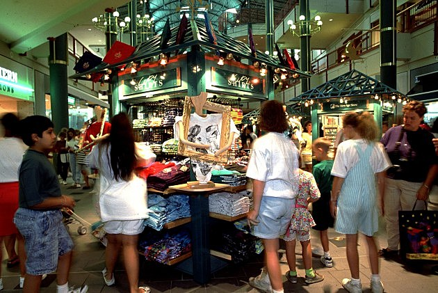 shopping mall in the 90s