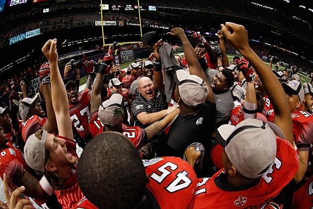 ragin cajuns win 2012 r+l carriers new orleans bowl