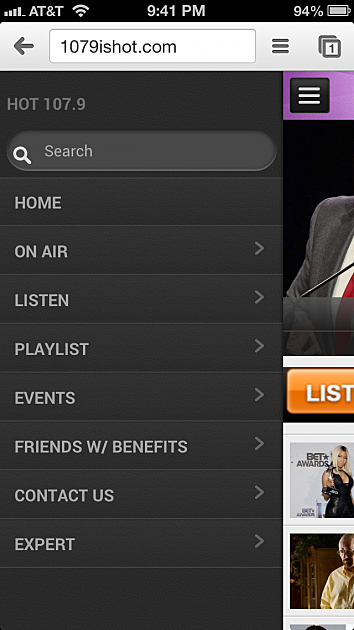 new hot 1079 website mobile version