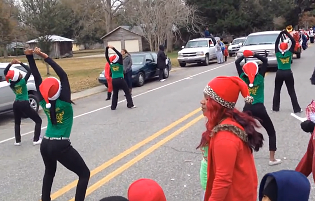 twerking at christmas parade