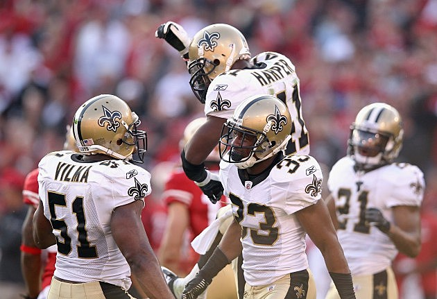 New Orleans Saints cut roman harper jonathan vilma, will smith, jabari greer