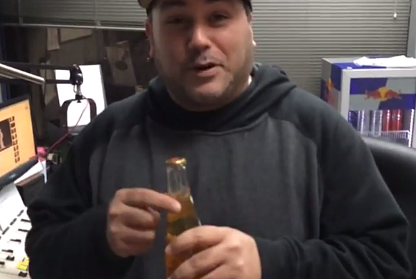 Fridge Beer Opener Opening a Beer With a