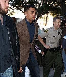 chris brown arrested rehab