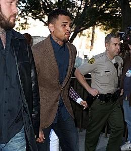 chris brown arrested rehab