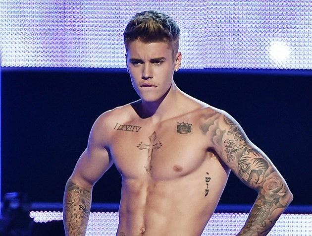 Justin Bieber Calvin Klein Photoshoot Theo wargo, getty images