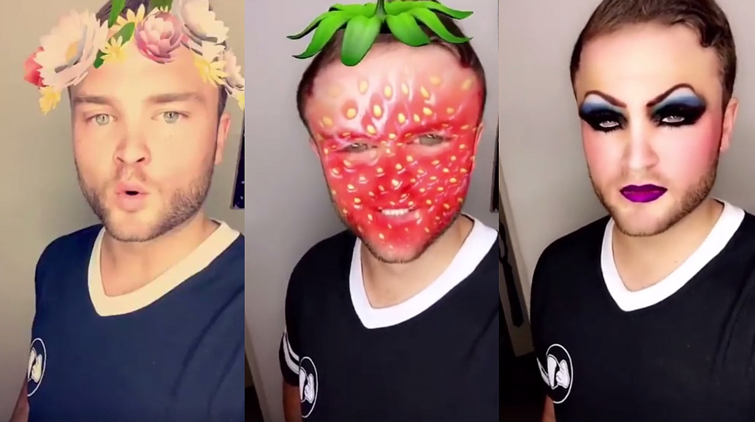 this guy hilariously runs through all the snapchat filters