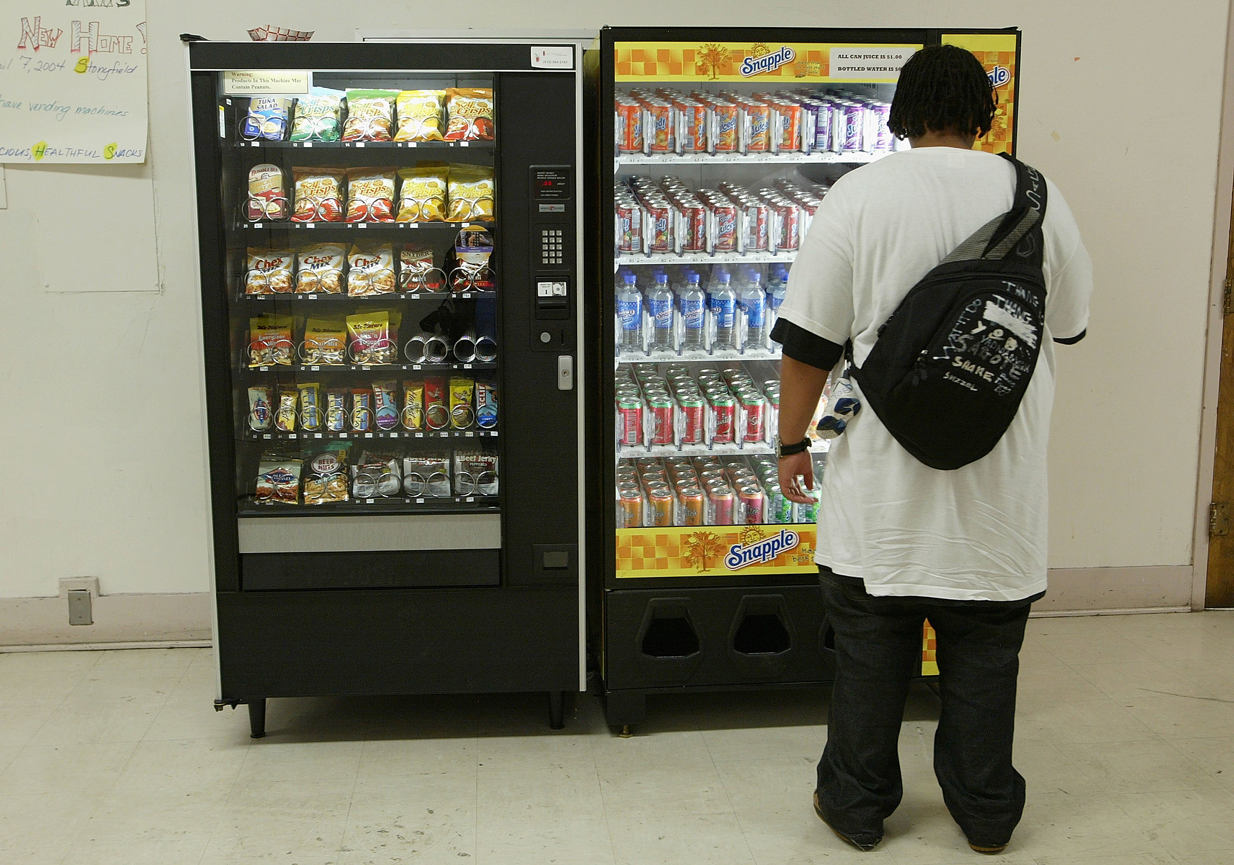Health Food Vending Machines Are Placed In San Francisco Schools