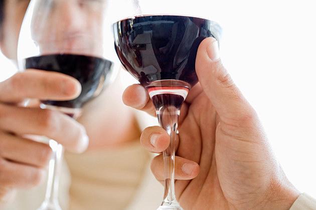 People toasting glasses of wine
